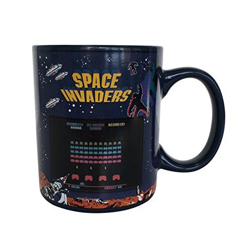 Space Invaders calor cambio taza, cerámica, multicolor, 8x 12x 10cm