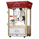 Great Northern Popcorn Red Matinee Movie Theater Style 8 oz. Ounce Antique Popcorn Machine (Renewed)