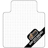 Gorilla Grip Premium Polycarbonate Studded Chair Mat for Carpeted Floor, 48x36, Heavy Duty, Easy Glide Transparent Mats for Chairs, Good for Desks, Office and Home, Protects Floors, with Lip, Clear