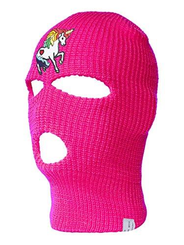 Rainbow Unicorn Ski Mask, Hot Pink