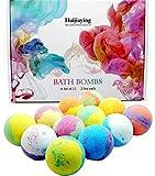 12PCS Bombes de Bain, Coffret-Cadeau de Bombe de Bain Aux Huiles Essentielles...