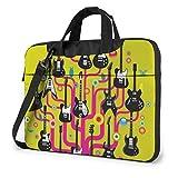 XCNGG Guitars Rock Colorful Laptop Bag Maletín a Prueba de Golpes Tablet Carry Handbag para Viajes de Negocios Oficina 14 Pulgadas