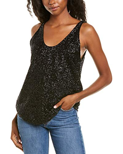5185IGPAJcL. SL500 About the brand: Globally-inspired combinations. Spool Top in black with sequin design and scoop neck Please note: Size selections are European. For US conversions, please reference the size chart.