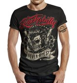 GASOLINE BANDIT® - Camiseta - Manga Corta - para Hombre Negro L
