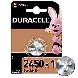 Duracell 2450 Pile bouton lithium 3V, lot de 1, (DL2450/CR2450) pour...