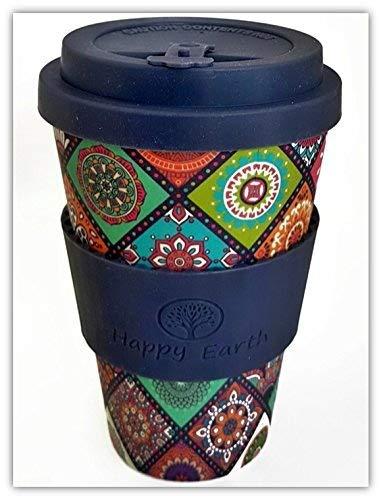EXOTICA par Happy Earth (tasse de café écologique réutilisable 450ml,...