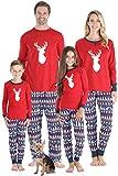 Sleepyheads Matching Family Christmas Pajama Sets, Red Blue Nordic Deer - Mens (SHM-5069-M-LRG)