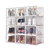 Meerveil Boîtes à Chaussures Empilable, Lot de 12, Rangement Boite Chaussure...