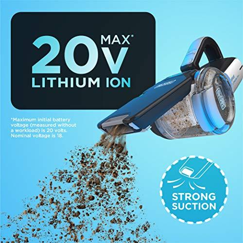 Product Image 4: BLACK+DECKER 20V Max Handheld Vacuum, Cordless, Grey (BDH2000PL)