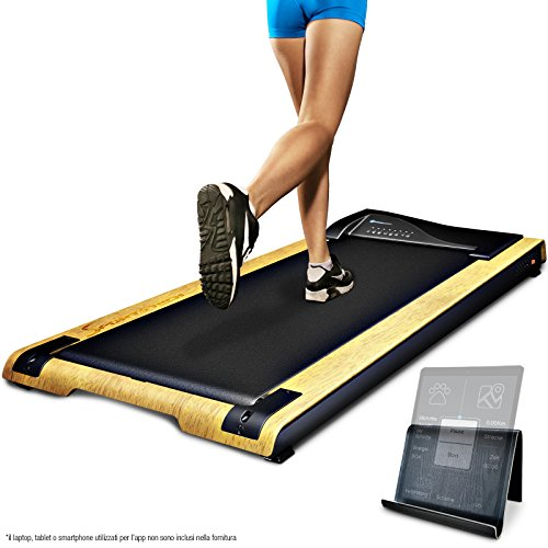 Sportstech Tapis Roulant Scrivania dft200 DeskFIT con App, Telecomando, Supporto Tablet I Tapis...