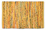 DII Contemporary Reversible Floor Rug Bathroom, Living Room, Kitchen, or Laundry Room (20x31.5') - Mustard (Color may vary)