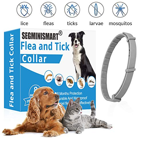 SEGMINISMART Collar Antiparasitos para Perro,Collar antipulgas y...