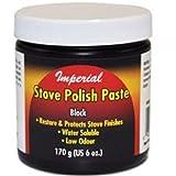 Imperial KK0059 Stove Polish Paste, Black, 6oz. Jar