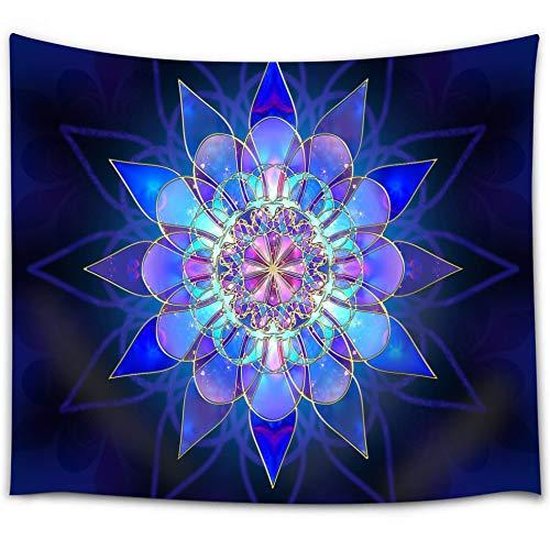 Blue Mandala Tapestry, Retro Bohemian Indian Ethnic Mandala...