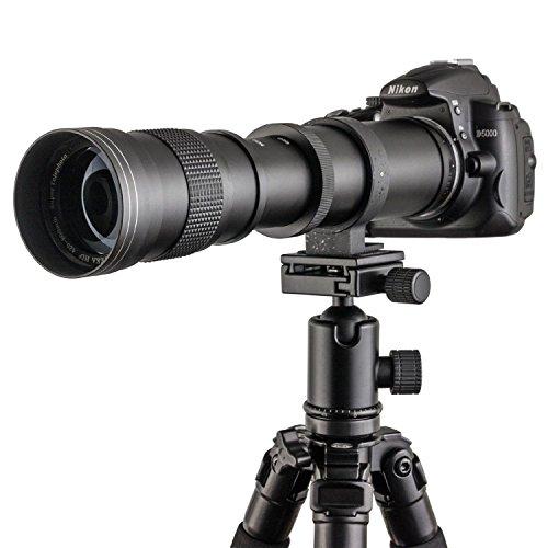 Fotga 420-800mm f / 8.3-16 Super-teleobiettivo Zoom Teleobiettivo zoom Lens con T-Nikon T2 Adattatore per Nikon D7200 D7100 D7000 D5500 D5300 D5200 D3300 D3200 D3100 D3000 D850 D810 D750 D610 D500 D90 D80 D4S e Oi Reflex Fotocamera
