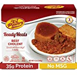 Kosher MRE Meat Meals Ready to Eat, Beef Cholent & Kugel (1 Pack) - Prepared Entree Fully Cooked, Shelf Stable Microwave Dinner – Travel, Military, Camping, Emergency Survival Protein Food Supply
