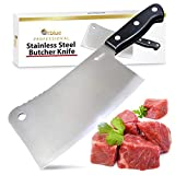 Orblue Premium Meat Cleaver - Stainless Steel Chef Butcher Knife for Cooking - Professional 7-Inch Blade for Precision Cutting - Perfect for Home Kitchen or Restaurant