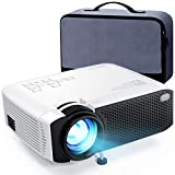 APEMAN Projector Mini Video Projector 5500 Lumens (2021 Upgraded) 1080P Full HD Supported, 180'' Display HDMI, USB, VGA, AV, Micro SD Dual Speakers 50000 Hours Home Projector, Carry Case Included