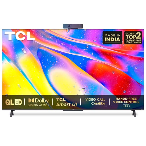 518JmABOetS TCL 163.9 (65 inches) 4K Extremely HD Licensed Android Good QLED TV 65C725 (Black) (2021 Mannequin) | With Video Name Digicam