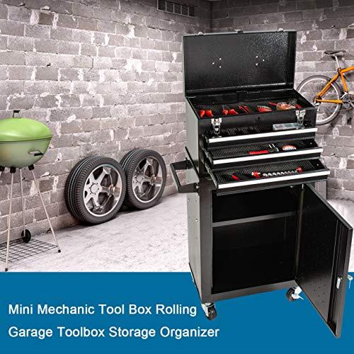 Product Image 7: 3 Drawer Mini Mechanic Tool Box Rolling Garage <a href=