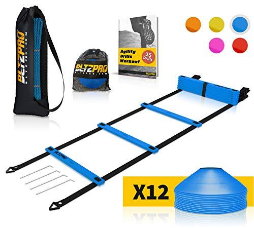 Bltzpro Agility Ladder soccer cones Kit-...