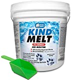 HARRIS Kind Melt Pet Friendly Ice and Snow Melter, Fast Acting 100% Pure Magnesium Chloride Formula, 15lb with Scoop Included Inside Bucket