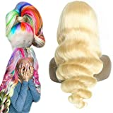 613 Human Hair Lace Front Wig 18 Inch Body Wave 13X4 Half Wig Indian Remy Hair For Women 130 Density Pre Plucked Free Part Transparent Swiss Lace Bleach Knot Affordable Can Be Dye Prime 9A Grade