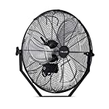 """NewAir 20"""" Outdoor High Velocity Wall Mounted Fan with 3 Fan Speeds and Adjustable Tilt Head,..."""