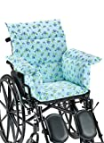 AmeriMark Chair Cushion Pad Seat Cover for Wheelchair, Transport Chair or Electric Scooter Blue Floral One Size