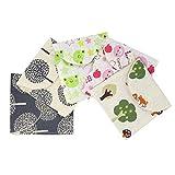 Honbay 5PCS Cute Cartoon Sanitary Napkin Cotton Bag Case Pouch Storage Organizer for Women and Girls