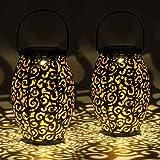 Gadgy 2 jeux de lanterne solaire exterieur ovales   pour decoration jardin  ...