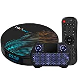 Android TV Box 10.0 4GB 64GB Smart TV Box Android Box RK3318 USB 3.0 Ultra HD 1080P 4K HDR WiFi 2.4GHz 5.8GHz Bluetooth 4.1 Set Top Box with Mini Wireless Backlit Keyboard HK1 MAX 4G 64G