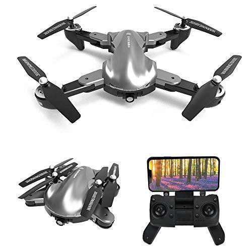 le-idea 12 - Drone GPS con Telecamera 2k, Pieghevole Mini Drone FPV WiFi 5GHz, Fotocamera 120 FOV, GPS Return Home, Fotografia gestuale, Follow Me, modalit Senza Testa, Borsetta