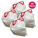 Think Crucial Durable Garbage Bags Fit simplehuman ?Size ?Q??, 50-65L / 13-17 Gallon (40 Pack)