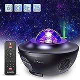 Lampe Projecteur LED Étoile, Projecteur de Veilleuse Rotatif avec 21 Modes &...