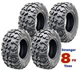 Set of 4 premium Free Country ATV UTV tires 25x10-12 25x10x12 8PR w/Side Scuff Guard …