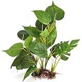 DIGIFLEX Decoracin Hojas Verdes para Acuario 20cm Plantas Artificiales para Acuarios Que Lucen como Plantas Verdaderas