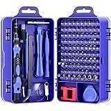 DAZAKA Juego de Destornilladores de Precisión Profesional 115 en 1 Kit de Herramientas de Reparación de Bricolaje para Reparar Electrónica, Teléfono Móvil, Laptop, Xbox, Gafas, Mirar (115 en 1)