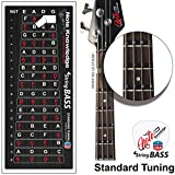 Bass Guitar Fretboard Note Map Decals/Stickers