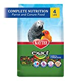 Kaytee Exact Rainbow Premium Daily Nutrition for Parrots and Conures, 4-Pound Bag