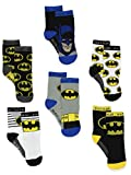 Batman Justice League Boy's 6 pack Athletic Crew Socks (12-24 Months, Black/Multi)