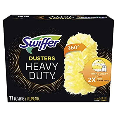 Swiffer 360 Degree Dusters TRAP + LOCK up to 3x more dust & allergens. vs. feather duster, common inanimate allergens from cat and dog dander & dust mite matter Specially coated fibers grab onto dust & don't let go Uniquely designed to Trap + Lock du...