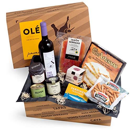 Geschenkkorb Olé mit spanischen Delikatessen I Präsentkorb gefüllt mit ausgesuchten...