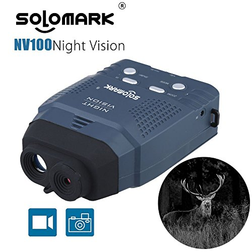 Night Vision Monocular, Blue-Infrared Illuminator Allows Viewing in The Dark - Records Images and Video with Memory Card