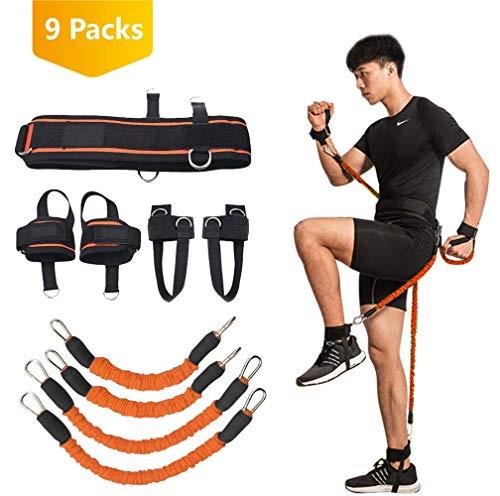 YNXing Strength Training Rope per Boxe, Basket, Scherma Allenamento Resistenza Corda Blu Stretch...