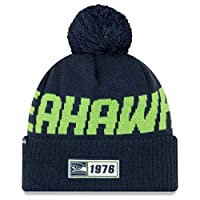 Team name knit into the hat body and embroidered NFL logo on back WINTERERA technology warm, knitted insulation Fold-up cuff with Pom. One Time Removable Pom Silicone team patch on the front One size fits most. Officially licensed by the NFL