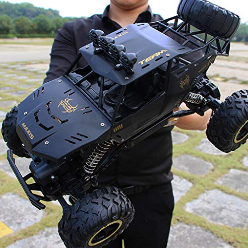 Haokanba HA-BEASTWHEEL- 4X4 RC Rock Crawler - Rc Car High Speed Remote Control Car for Kids Adults - 2.4Ghz Road Monster Trucks Excitement in Water, Mud,Snow - Trucks Toy Gifts for Boy (Black)