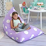 Butterfly Craze Stuffed Animal Storage Bean Bag Chair - Stuff 'n Sit Toy Bag Floor Lounger for Kids, Teens and Adult |Extra Large 200L/52 Gal Capacity |Premium Cotton Canvas (Purple)