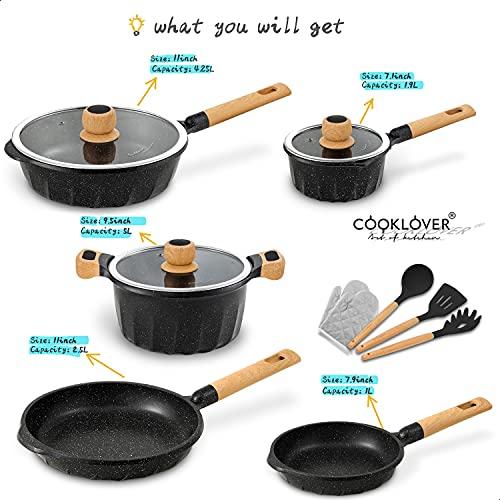 Product Image 3: Cookware Set Nonstick 100% PFOA Free <a href=