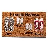 NANNUK Paillasson personnalisé en fibre de coco Famille 4